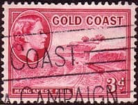 Gold Coast 1952 SG 158 Queen Elizabeth Manganese Mine Fine Used