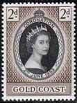 Gold Coast Queen Elizabeth II 1953 Coronation Fine Mint