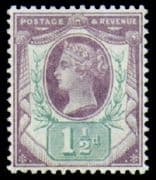 Great Britain 1887 Queen Victoria Jubilee Issue SG 198 Fine Mint