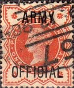 Great Britain 1896 Queen Victoria Army Offical Overprint SG O41 Fine Used
