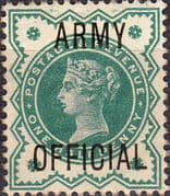 Great Britain 1896 Queen Victoria Army Offical Overprint SG O42 Fine Used