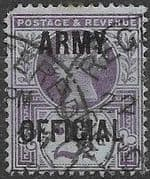 Great Britain 1896 Queen Victoria Army Offical Overprint SG O44 Used