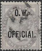 Great Britain 1896 Queen Victoria Office of Works Overprint SG O33 Good Used