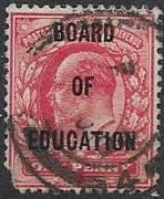 Great Britain 1902 King Edward VII Board of Education Overprint SG O84 Used