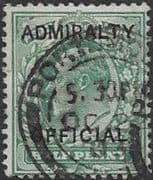 Great Britain 1903 King Edward VII Admiralty Overprint SG O101 Fine Used