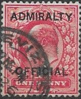Great Britain 1903 King Edward VII Admiralty Overprint SG O102 Fine Used