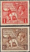 Great Britain 1924 King George V British Empire Exhibition Set Fine Mint