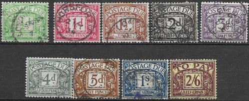 Great Britain 1924 Post Due Set Fine Used