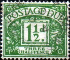 Stamps of Great Britain 1924 Post Due SG D 10 Fine Used Scott J 9