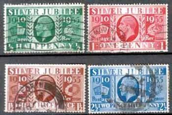 Great Britain 1935 King George V Silver Jubilee Set Fine Used