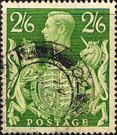 Great Britain 1939 King George VI Head High Values SG 476a Fine Used