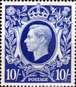 Great Britain 1939 King George VI Head High Values SG 478a Fine Mint