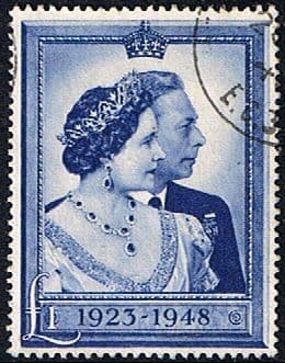 Great Britain Stamps 1948 King George VI Royal Silver Wedding