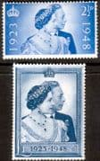 Great Britain 1948 King George VI Royal Silver Wedding Set Fine Mint