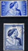 Great Britain 1948 King George VI Royal Silver Wedding Set Fine Used
