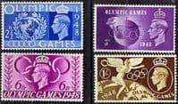 Great Britain 1948 Olympic Games Set Fine Mint
