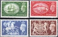 Great Britain 1951 King Geoege VI Set Fine Lightly Mounted Mint