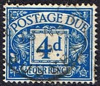 Great Britain 1951 Post Due SG D 38 Fine Used