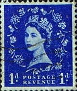 Stamps of Great Britain 1955 Queen Elizabeth II Definitive SG 541 Fine Used Scott 318