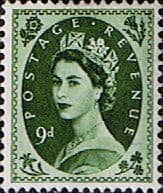 Stamps Great Britain 1955 Queen Elizabeth II Definitive SG 551 Good Used Scott 328