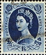 Stamps Great Britain 1955 Queen Elizabeth II Definitive SG 553 Good Used Scott 330