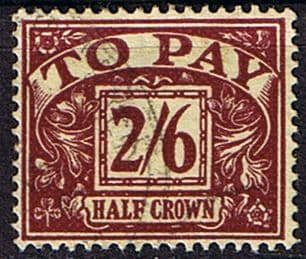 Stamps of Great Britain 1954 Post Due SG D 45 Fine Used Scott J 44