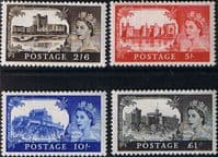 Great Britain 1955 Queen Elizabeth II Definitive Castles Set Fine Mint