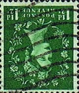 Stamps Great Britain 1955 Queen Elizabeth II Definitive SG 542Wi Fine Used Scott 319i Inverted watermark from Coil