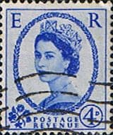 Stamps Great Britain 1955 Queen Elizabeth II Definitive SG 546 Fine Used Scott 323