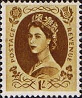 Stamps Great Britain 1955 Queen Elizabeth II Definitive SG 554 Good Used Scott 331