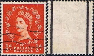 Stamps Great Britain 1955 Queen Elizabeth II Definitive Graphite-lined Issue SG 561 Fine Used Scott 353c