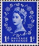 GB Stamps Great Britain 1955 Queen Elizabeth II Definitive Graphite-lined Issue SG 562 Fine Used Scott 354c