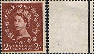 Great Britain 1957 Queen Elizabeth II Definitive Graphite-lined Issue SG 564 Fine Used