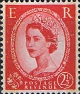 Great Britain 1957 Queen Elizabeth II Definitive Graphite-lined Issue SG 565 Fine Mint