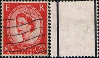 Stamps Great Britain 1955 Queen Elizabeth II Definitive Graphite-lined Issue SG 565 Fine Used Scott 357c
