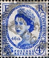 Stamps Great Britain 1955 Queen Elizabeth II Definitive Inter-Parliamentary Union Conference SG 560 Good Used Scott 337