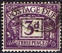 Great Britain 1959 Post Due SG D 60 Fine Used