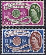 Great Britain 1960 European Postal and Telecommunications Set Fine Mint
