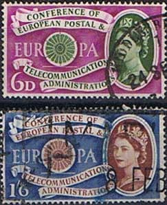 Great Britain 1960 European Postal and Telecommunications Set Fine Used