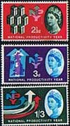 Great Britain 1962 National Productivity Year Phosphor Set Fine Mint