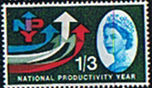 Great Britain 1962 National Productivity Year Phosphor SG 633p Fine Mint