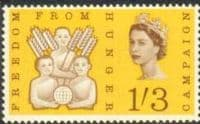 Great Britain 1963 Freedom From Hunger Phosphor SG 635p Fine Mint