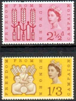 Stamps Great Britain 1963 Freedom From Hunger Set Fine Mint