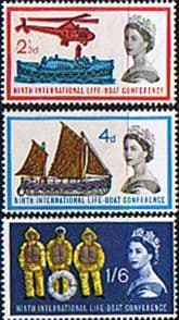 Great Britain 1963 International Lifeboat Conference Set Fine Mint