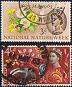 Great Britain 1963 National Nature Week Phosphor Set Fine Used
