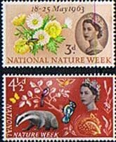 GB Stamps Great Britain 1963 National Nature Week Set Fine Mint