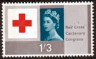 Great Britain 1963 Red Cross Centenary Phosphor Bands SG 644  Fine Mint