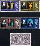 Great Britain 1964 William Shakespeare Set Fine Mint