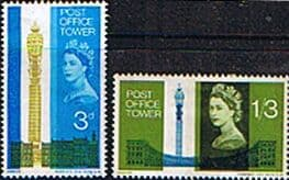 Great Britain 1965 Opening of Post Office Tower Phosphor Bands Set Fine Mint