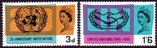 Great Britain 1965 United Nations ICY Set Fine Mint